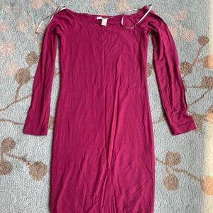 Forever 21 off shoulder dress fuchsia small